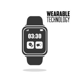 smart watch wearable technology vector image