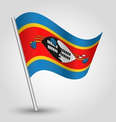 swazi flag on pole vector image vector image