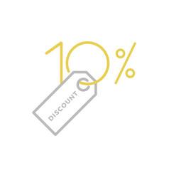 ten percent discount logo vector image