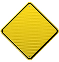 Blank yellow road sign detailed vector image
