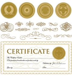 Formal Certificate Template vector image
