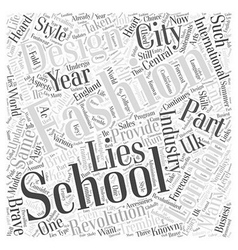 london fashion design schools Word Cloud Concept vector image