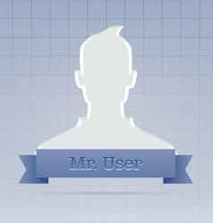 Social service user profile vector image vector image