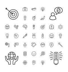 37 idea icons vector