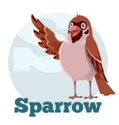 ABC Cartoon Sparrow2 vector image