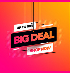 Abstract big deal sales banner for special offers vector