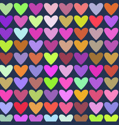abstract colorful hearts painting background vector image