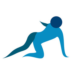 Abstract fitness icon vector