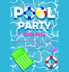Amazing pool party poster for social media vector