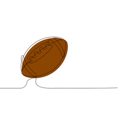 American football ball in one continuous line vector