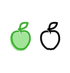 apple premium quality icons vector image