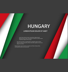 Background with hungarian colors vector
