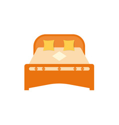 bed pillows and blanket bedroom furniture vector image
