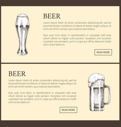 beer objects set hand drawn sketches vector image