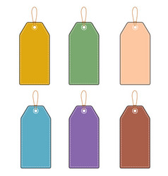 Blank prices tag on white background lable vector