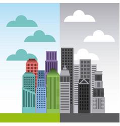 buildings cityscape skyline icon vector image