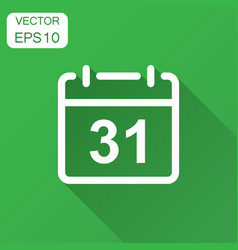 Calendar agenda icon in flat style planner with vector