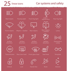 car interface icons set vector image