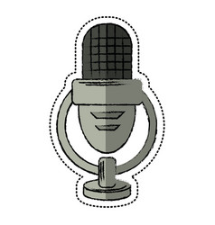 Cartoon retro microphone voice vector