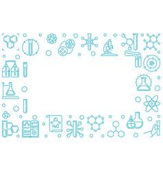 chemistry horizontal outline frame vector image