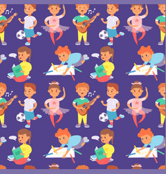 Children playing different types of home vector