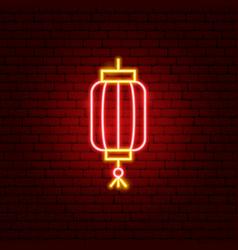 China lantern neon sign vector