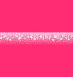 Christmas banner with hanging snowflakes vector