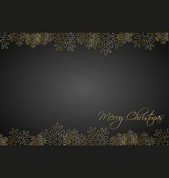 christmas black background lined golden vector image