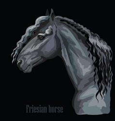 Colorful horse portrait-5 vector