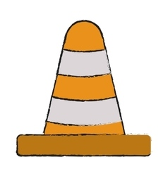 Cone of industrial security design vector
