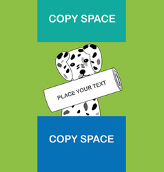 Cute dalmatian with newspaper and copy space vector
