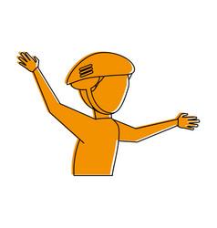 cyclist athlete sport avatar icon image vector image