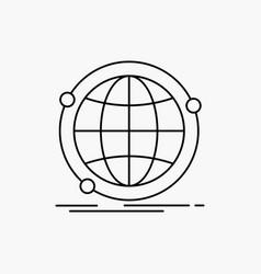Data global internet network web line icon vector