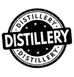 Distillery sign or stamp vector