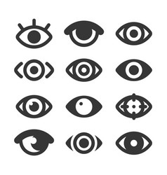 Eyes icon set isolated eye collection vector