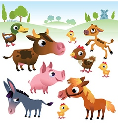 Farm animals set vector