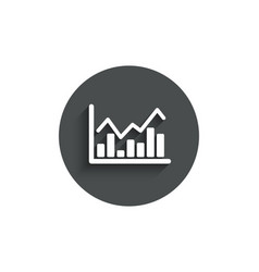 financial chart simple icon finance graph vector image
