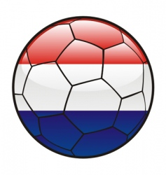 flag of Netherlands on soccer ball vector image