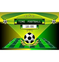 Football timer vector