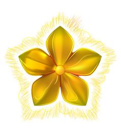 Golden metal pattern flower five petal vector