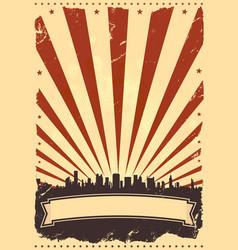 grunge american leaflet vector image
