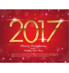 Happy New Year 2017 text design greeting vector