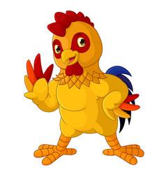 happy rooster cartoon vector image