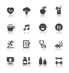 Health and wellness icons vector