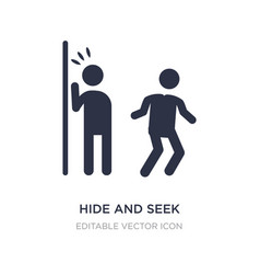 Hide and seek icon on white background simple vector