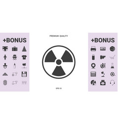 ionizing radiation icon - graphic elements for vector image