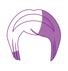 Japanese girl hairstyle icon vector