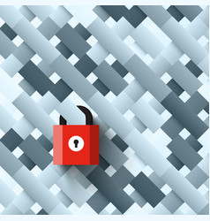Lock on abstract shapes background locked vector