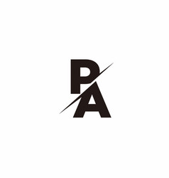 Logo monogram slash concept with modern designs vector