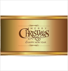 Merry christmas gold background vector image vector image